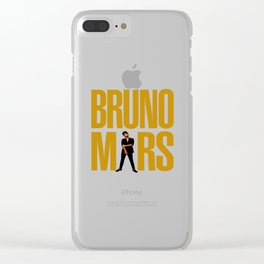 MARS_GOLD Clear iPhone Case