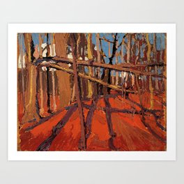 Tom Thomson - Forest, October - Canada, Canadian Oil Painting - Group of Seven Art Print