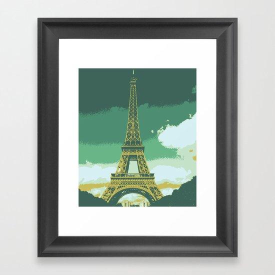 Eiffel Tower Paris Pop Art Framed Art Print