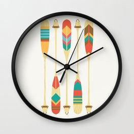 Summer Lake Wall Clock