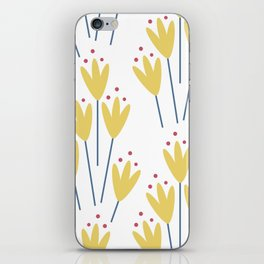yellow abstract flowers iPhone Skin