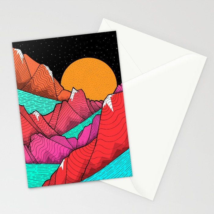 The islands and the sea Stationery Cards