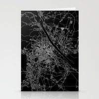 vienna Stationery Cards featuring Vienna map by Line Line Lines