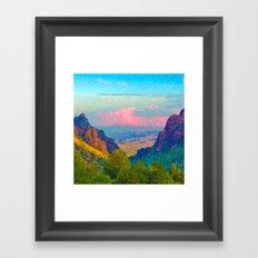 The Window at Big Bend National Park Framed Art Print