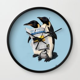 Read All Over (Colour) Wall Clock