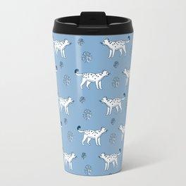 snow leopard pattern Travel Mug