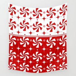 Red Peppermint Candy Wall Tapestry