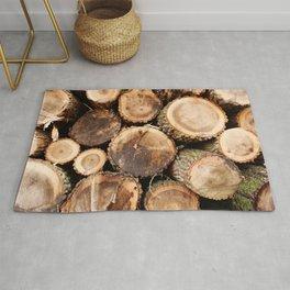 Cut logs Rug