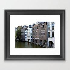 Water and bricks Framed Art Print