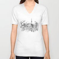 toronto V-neck T-shirts featuring Toronto! by David Bushell