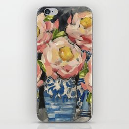 Pink Camellias No 2 iPhone Skin