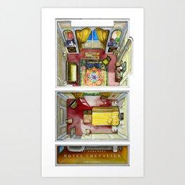 HOTEL CHEVALIER's room in watercolor Art Print