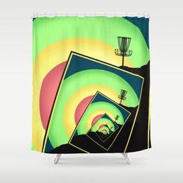 Spinning Disc Golf Baskets 5 Shower Curtain