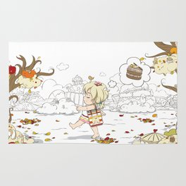 Chu Chu Angel : Autumn walk Rug