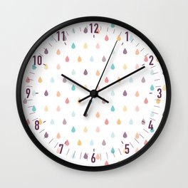 colorful rain Wall Clock