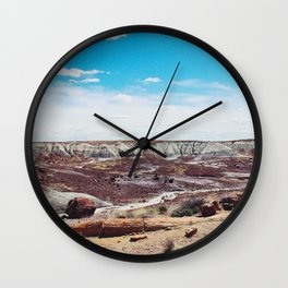Along the painted desert Wall Clock