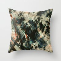 storm Throw Pillows featuring Storm  by Peter Coleman