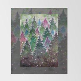 Northern Forest Throw Blanket