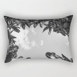 Rainforest Canopy - Tropical Sky Black and White Rectangular Pillow