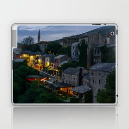 Night Mostar city Laptop & iPad Skin