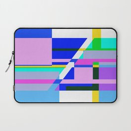 Abstract - Pink Blue and white 2 Laptop Sleeve