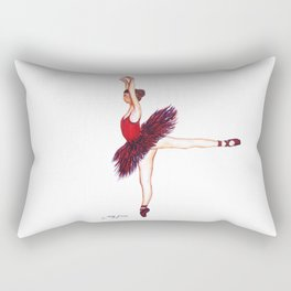 Red Ballerina Rectangular Pillow