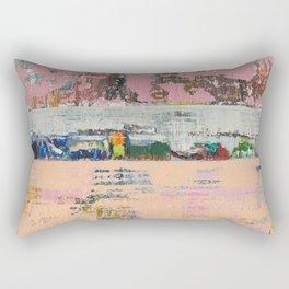 Dogbane Pink Abstract Painting Print Rectangular Pillow