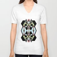 arabic V-neck T-shirts featuring Arabic Castle by ALERTA