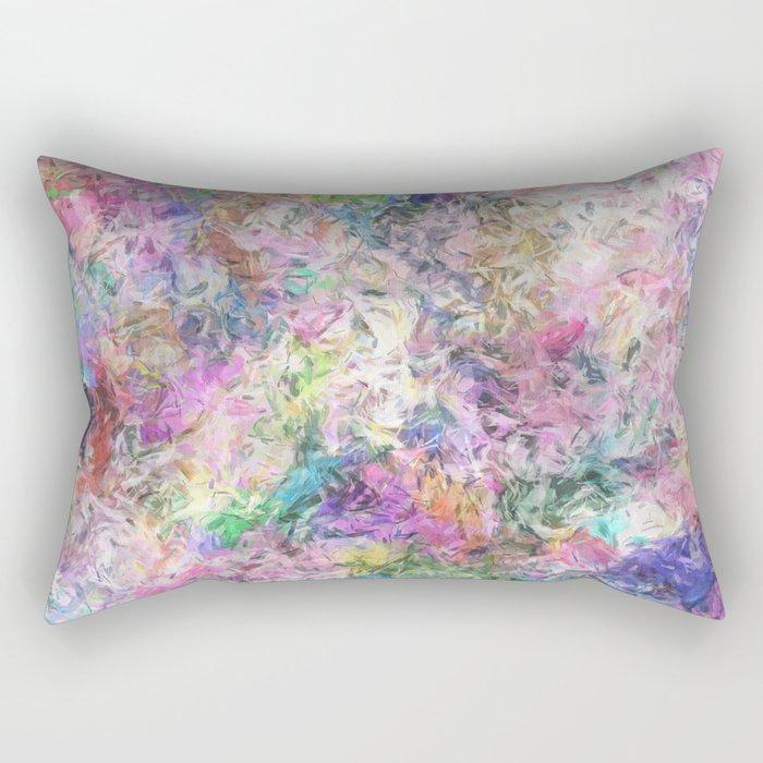 Textural Abstract Spectrum Rectangular Pillow