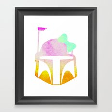 Star Wars Boba Fett and Bow 2 Framed Art Print