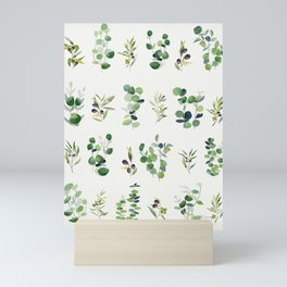 Eucalyptus and Olive Pattern 2  Mini Art Print