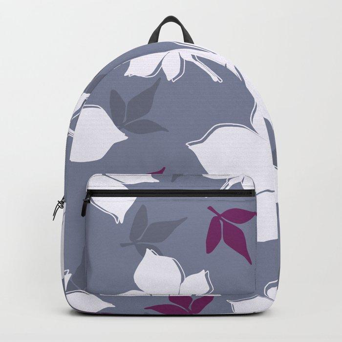 Serene Leaves Pattern Backpack