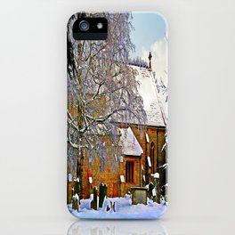 Warmth of a Church in Winter.  iPhone Case