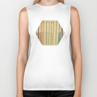 laptop Biker Tanks featuring Old Books by Cassia Beck