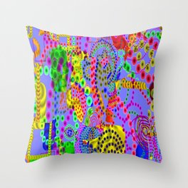 Coral Sea Life, from Mickeys Art And Design.Biz Throw Pillow