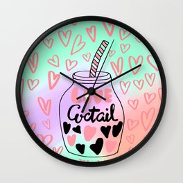 Drink me Wall Clock