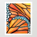 Monarch Butterfly Wings Watercolor Abstract by kristiangallagher
