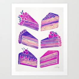Cake Slices – Unicorn Palette Art Print