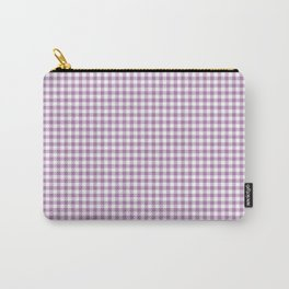 Lilac Gingham Check Carry-All Pouch
