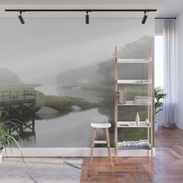 Foggy little river Wall Mural
