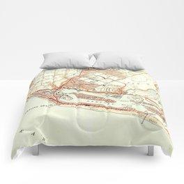 Vintage Map of Newport Beach California (1951) Comforters