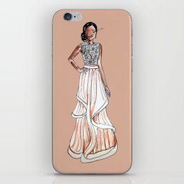 Prom Dress (Beige Background) iPhone Skin