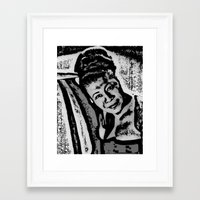 fitzgerald Framed Art Prints featuring Ella Fitzgerald by BFly Designs by Tanysha B.