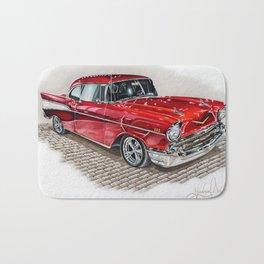 57 Chevy Bath Mat