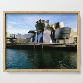 Guggenheim museum in Bilbao Serving Tray