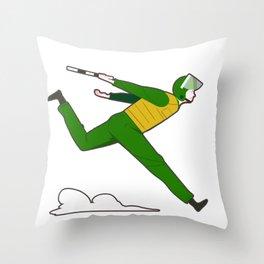 Vietnamese cop running Throw Pillow