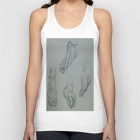 feet Tank Tops featuring Feet by Esteban Garza