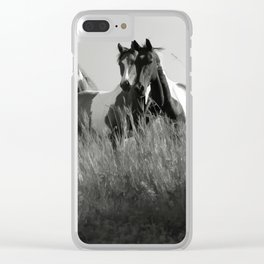 Cariboo Horses Clear iPhone Case