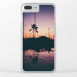 Purple and Orange Skies Clear iPhone Case