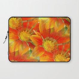 Seamless Vibrant Yellow Gazania Flower Laptop Sleeve